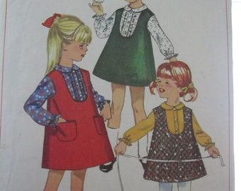 PATTERN SIMPLICITY 6660 VINTAGE 1966 dress for little girl size 4 years