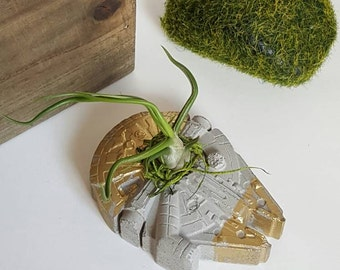 Star Wars Millennium Falcon Air Plant Concrete Planter