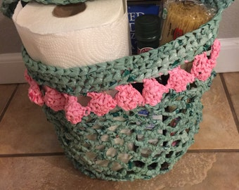 Plarn crocheted bag/tote