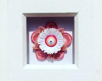 Handmade quilled paper art flower paper quilling decor
