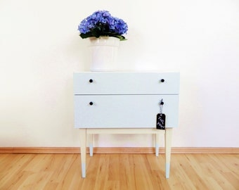 70s chest of drawers Vintage Cabinet white light grey