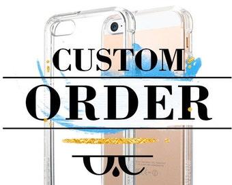 Custom order iphone 7 cases iphone 7 plus iPhone 6 iPhone 6 Plus iphone 6s plus samsung galaxy s6 S7 ipad case apple case laptop case