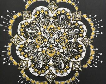 Mandala: bloom series --- black