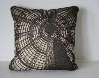 Cushion cover Melbourne Central Tower, Melbourne souvenir, decorative pillow, home decor, pilow 45x45cm, black and white, photgraphy,  linen