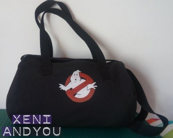 Bag travel bag everything take with the logo of Ghostbusters