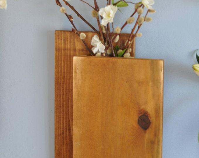 Cedar Wall Vase Display