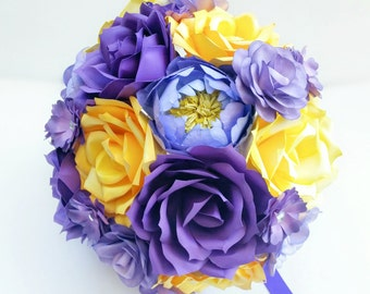 Paper Flower Bridal Bouquet-Custom Wedding Paper Flowers-Made to Order Paper Flowers