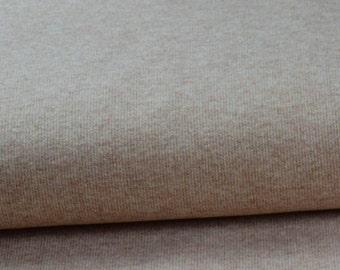Cotton Jersey rib beige