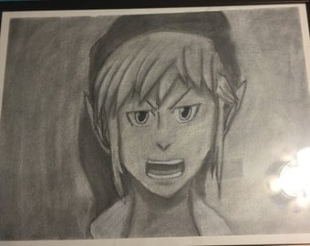 Link Charcoal Drawing