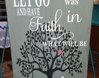 24x12 tall wooden wall sign