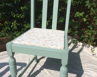 Upcycled vintage kitchen chair