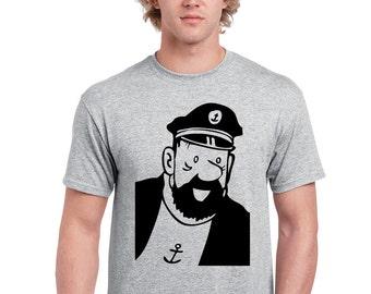 T-Shirt Haddock comic