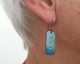 Enamel over Copper Earrings