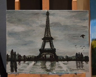 Paris Eiffel Tower - Original Painting