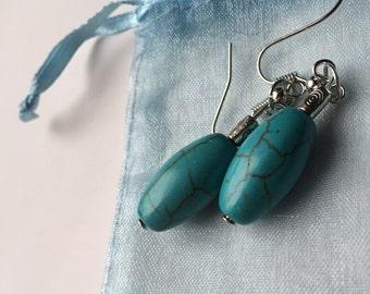 Turquoise handmade earrings