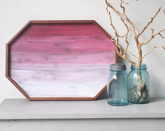Handpainted Ombré Wooden Tray