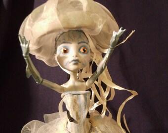 Monster high OOAK repaint doll jellyfish