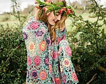"""shawl """"summer garden"""""""