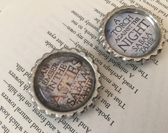 An Ember In The Ashes Bottle Cap Magnets