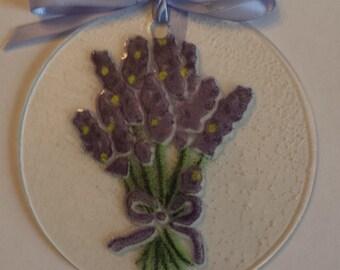 Lavender Glass Ornament