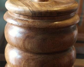 Solid Wood Lathe Turned Tobacco Humidoor