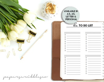 SALE - To Do List Printable, To Do Planner Inserts, To Do List Notepad, To Do List Notebook, Printable Planner, A5 Planner Insert, Planner