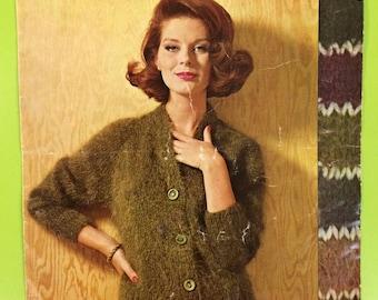 Vintage Retro Mid Century Knitting Pattern Book Sirdar No. 2072