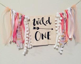 Wild One Birthday Banner or Highchair Banner