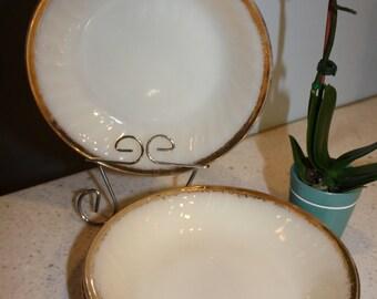 Fireking Milk Glass Bowls