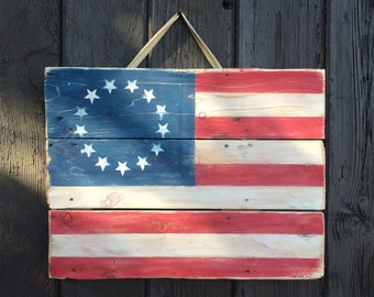 Custom Reclaimed Wood Flags