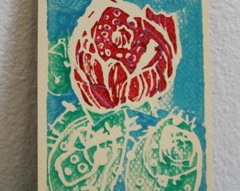 Red Desert Flower Print