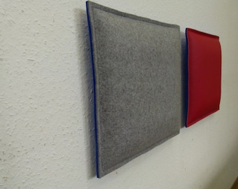 Felt pads, wall upholstery, cushions, bench pads, wall cushion in felt/felt & leather/felt combination to measure - many colors