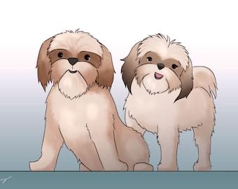 Double Pet Portrait