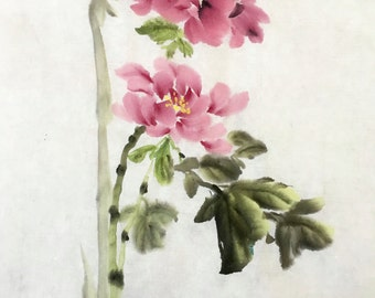 Hand draw water painting/Flowers