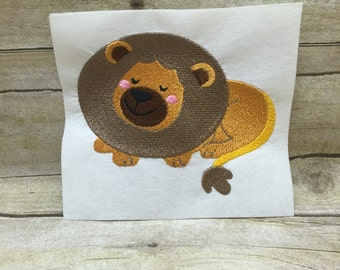 Lion Embroidery Design, Sleeping Lion Embroidery Design
