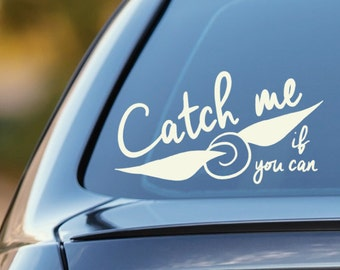 Snitch Car decal- Harry Potter Car decal - Catch me if you can snitch decal
