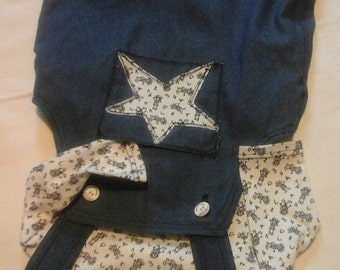 Dungarees with long sleeve shirt size 68