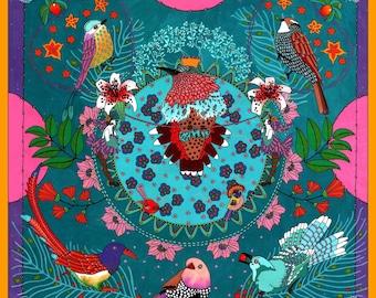 "Print Art ""Oiseau Roi"" - Limited Edition Print - Gouache"