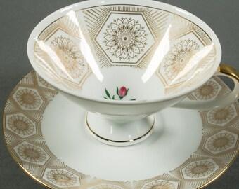 Winterling Bavaria Germany, cup and saucer, porcelain, vintage.
