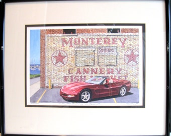 Dana Forrester, Monterey Roadster, Artist's Proof, Framed, Signed and Numbered Giclee Print