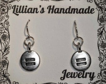 Silver Equality Earrings