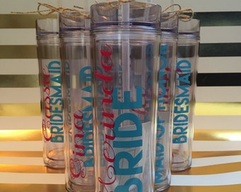 Bridesmaids Water Bottles