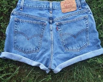 Vintage Levi Med-Wash Cutoff Shorts