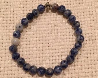 Stretch Bracelet - Blue Spot