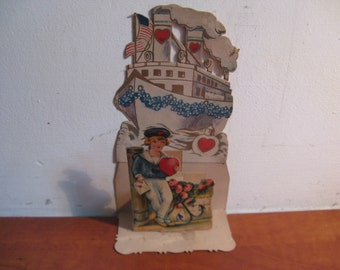 Antique relief map Valentine Germany ca. 1920 ...