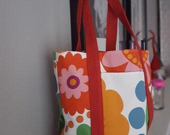 Small Cotton Handmade Tote bag