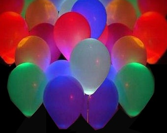 20pcs Led Flash Balloons Illuminated LED Balloon Glow In The Dark Sky Lanterns Happy Birthday Decoration globos Party Baloons