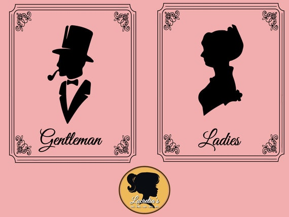 Ladies And Gentleman Restroom Sign Svg Dxf Clipart Svg