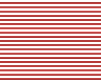 Red and White Stripe Knit Fabric by the yard by Edward Oliver Austin Designs eoadesigns