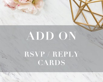 Add On: RSVP / Reply Card